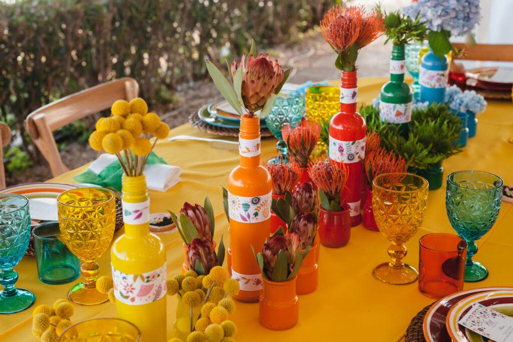mexicanstyle setting table  allestimento tavolo colorato
