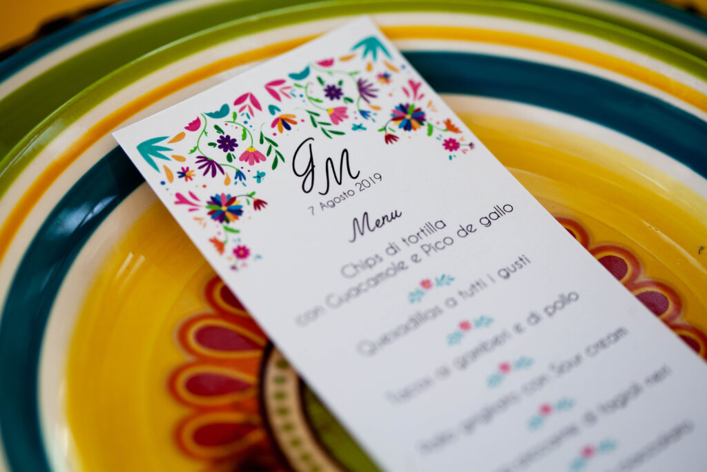 menu in mexicanstyle