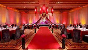 matrimonio cinese: la sala del rito e del banchetto.