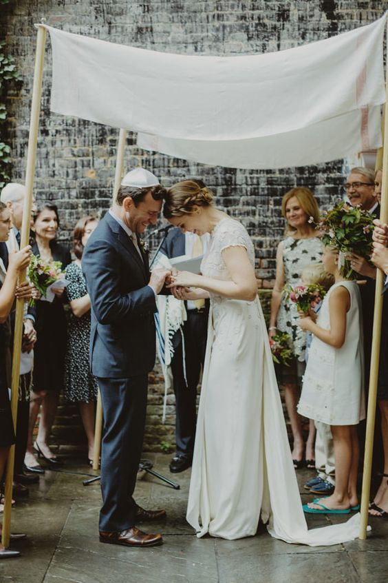 matrimonio ebraico: chuppah