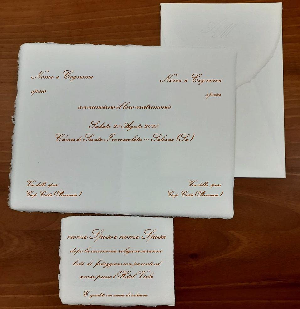 partecipazioni e inviti in carta d'Amalfi