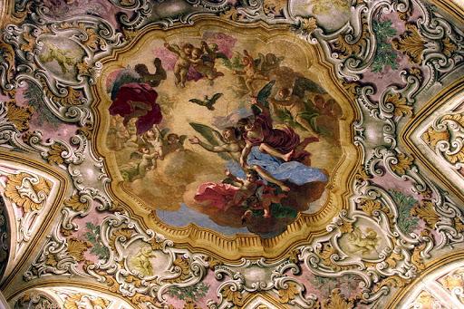 le chiese più belle per sposarsi a napoli.Affresco del Vasari chiesa S. Anna dei Lombardi